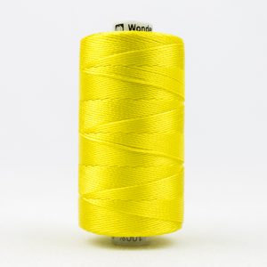 WONDERFIL RAZZLE 8wt Rayon Thread LEMON YELLOW