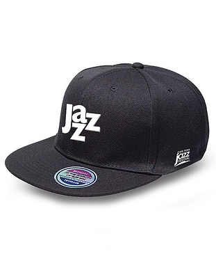 Jazz_Snapback_Black_White Logo (JAZZCAP_