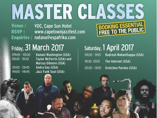 18th annual Cape Town International Jazz Festival announce masters of music for 2017 Master Classes