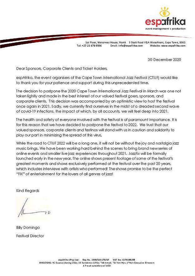 CTIJF 2021 Letter from Festival Director