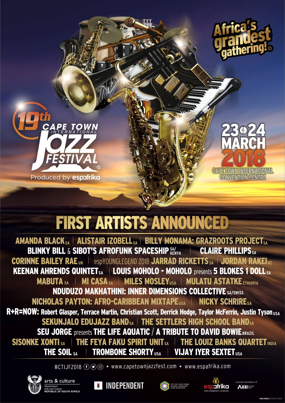 CTIJF2018 FIRST ARTISTS