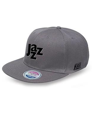 Jazz_Snapback_grey_Black Logo (JAZZCAP_G