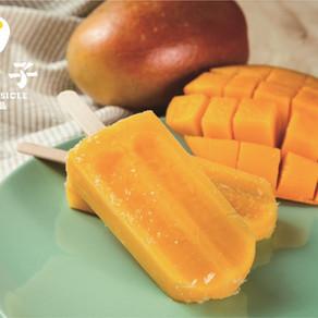 文青老闆出的實在芒果水果冰棒 愛文芒果整枝爆滿
