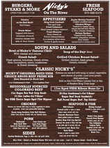 Nickys on the River Menu.png