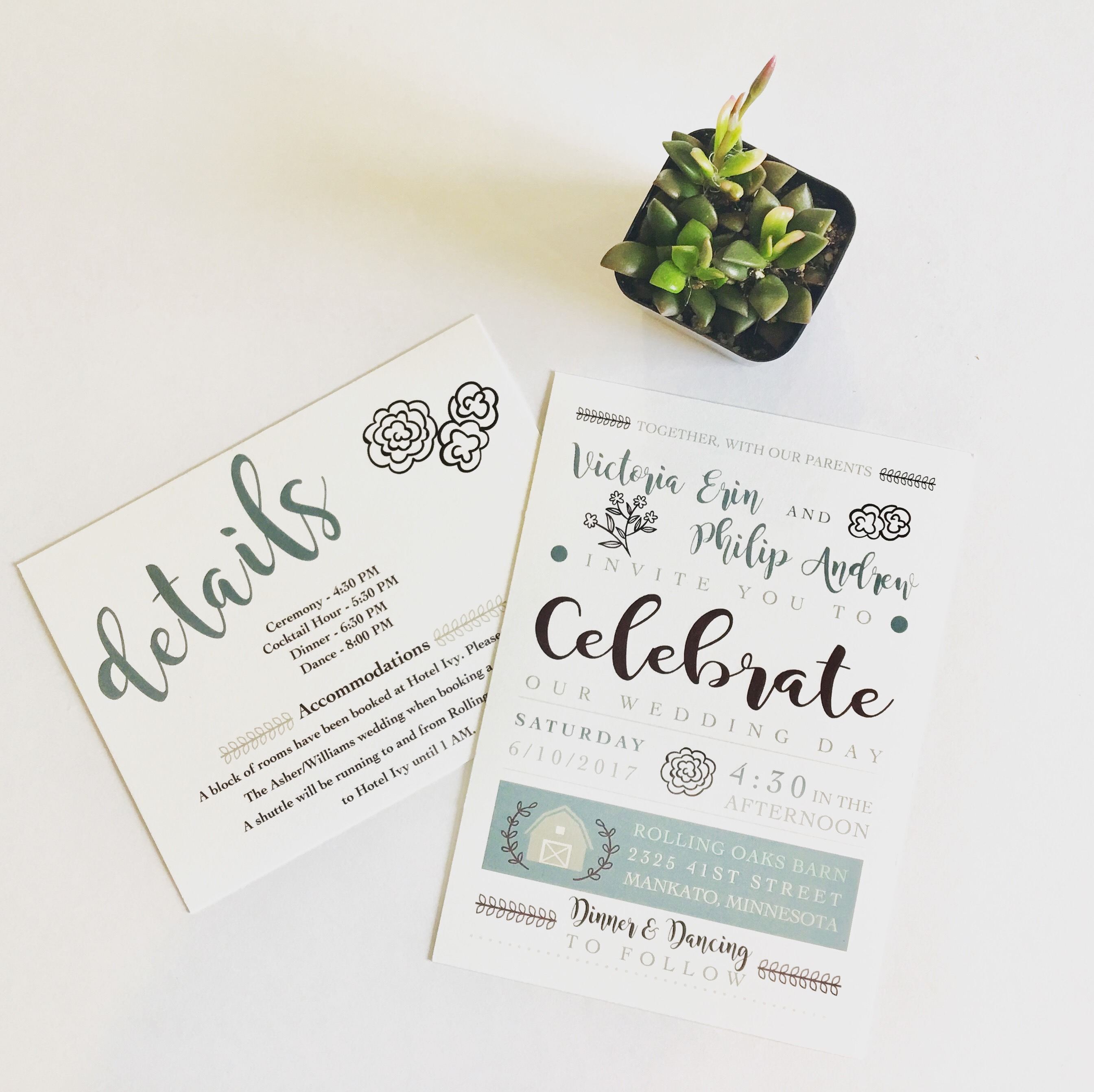 Wedding Invitation and Detail Card