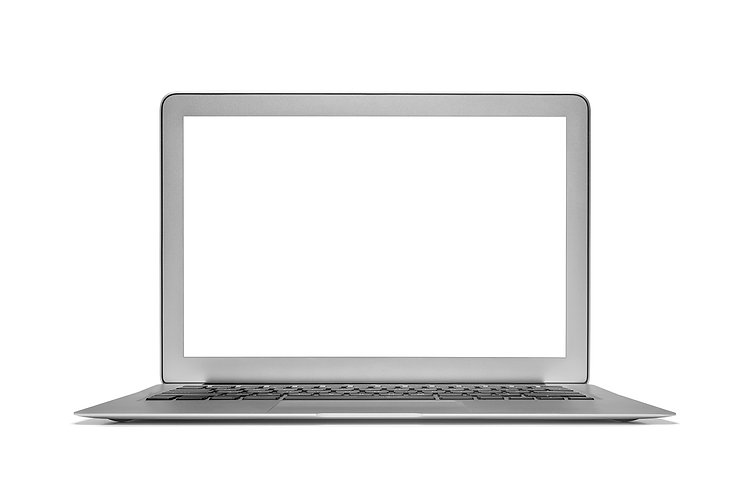Laptop isolated on white background with