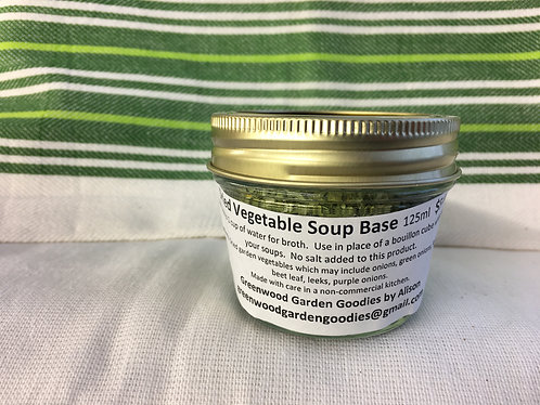 Vegetable soup base mix 125ml jar