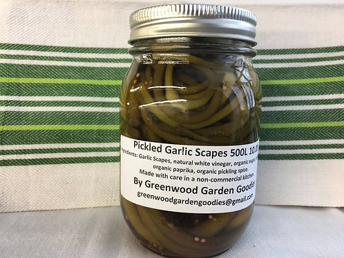 Pickled Garlic Scapes 500ml