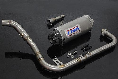 Honda Grom OG Tyga Full Race System Exhaust Stainless Steel Oval
