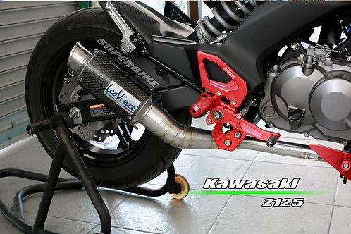 Kawasaki Z125PRO Leovince carbon full system