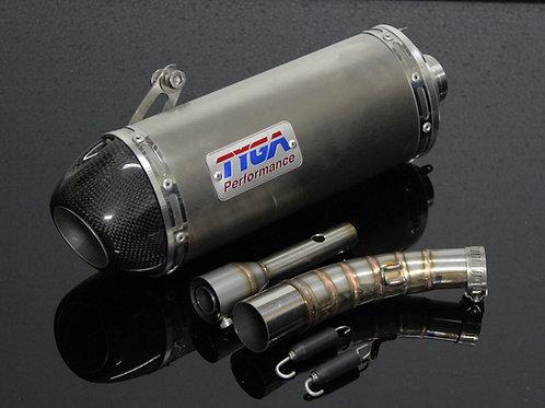 Honda Grom OG Tyga Stainless Steel Oval Slip On Silencer