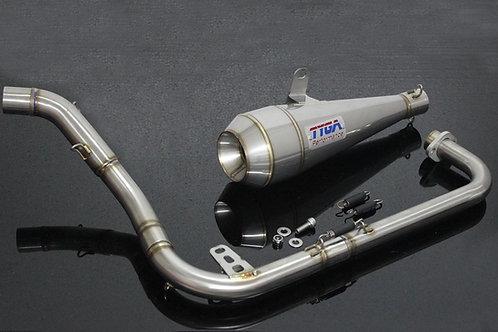 Honda Grom OG Tyga Full Race System Exhaust Moto Maggot Stainless Steel