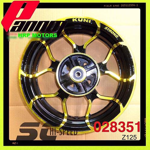"Kawasaki Z125Pro alloy wheels 12"""