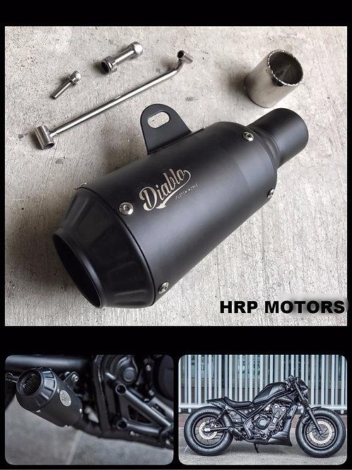 Honda Rebel 300/500 Short Diablo exhaust