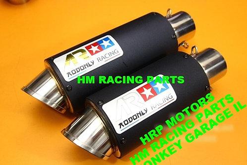 Z125 Pro AR racing black muffler full system low mount