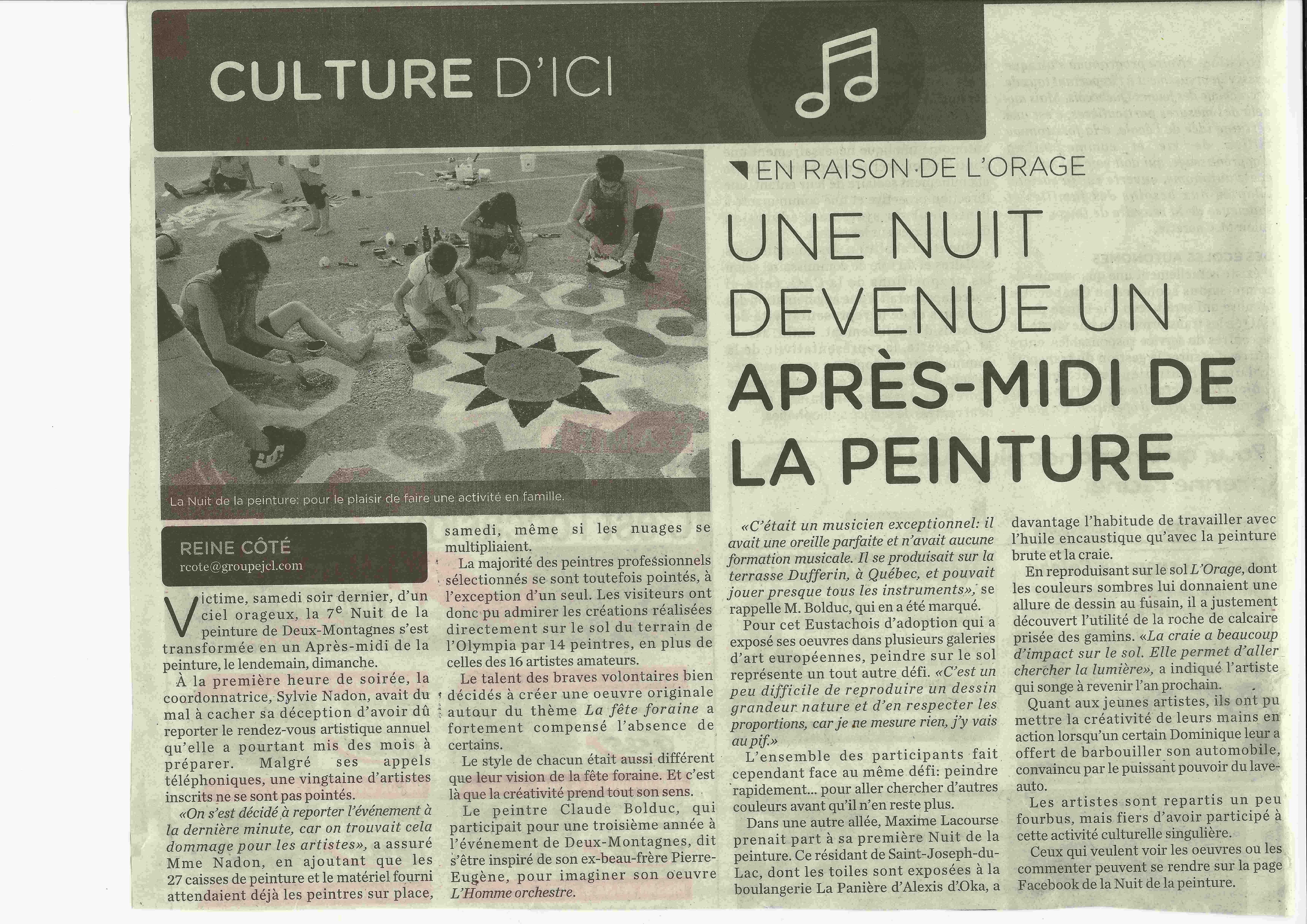 2012-JOURNAL _L'ÉVEIL_ 25 août 2012;