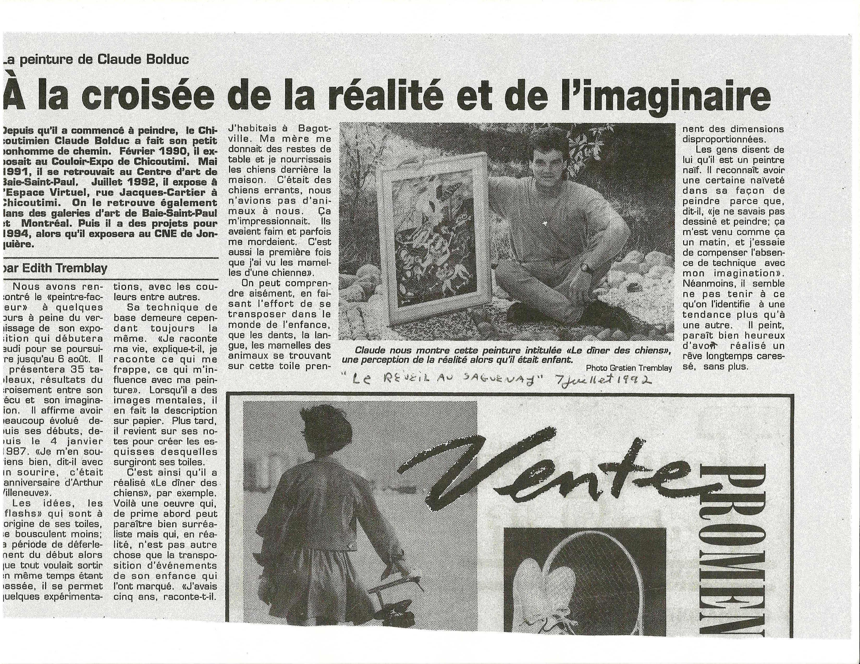 1992, LE RÉVEIL 07.07