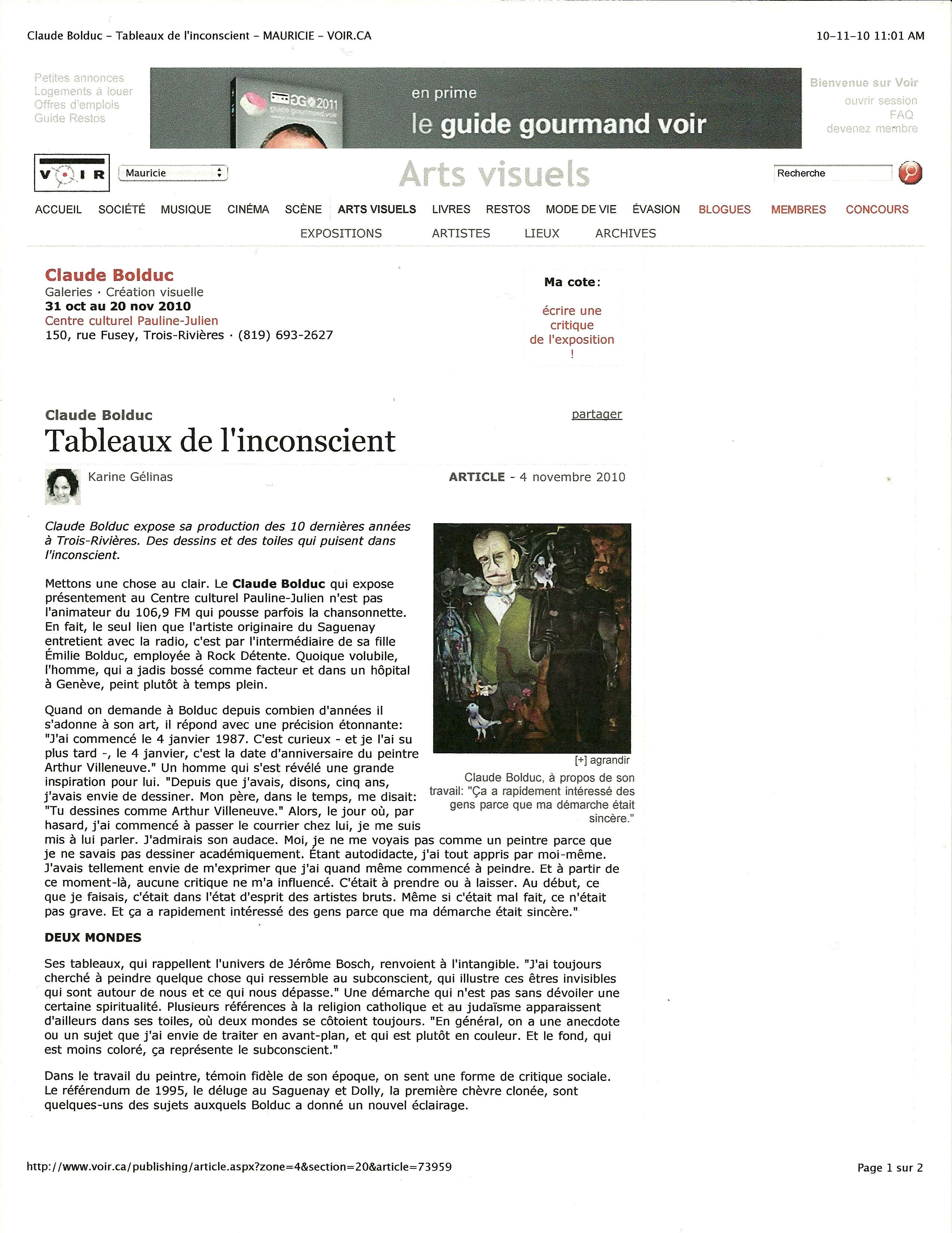 Article journal VOIR (2010)