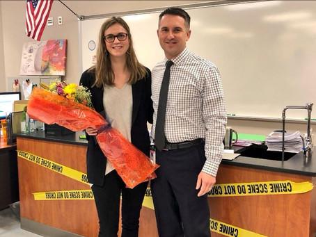 Spartan Teacher of the Year is an SLHS Graduate Herself