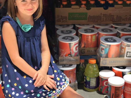 Katy Kid Donates Over 500 Gallons of Gatorade to Houston Fire Departments