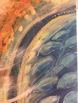 Painting detail - Legend series