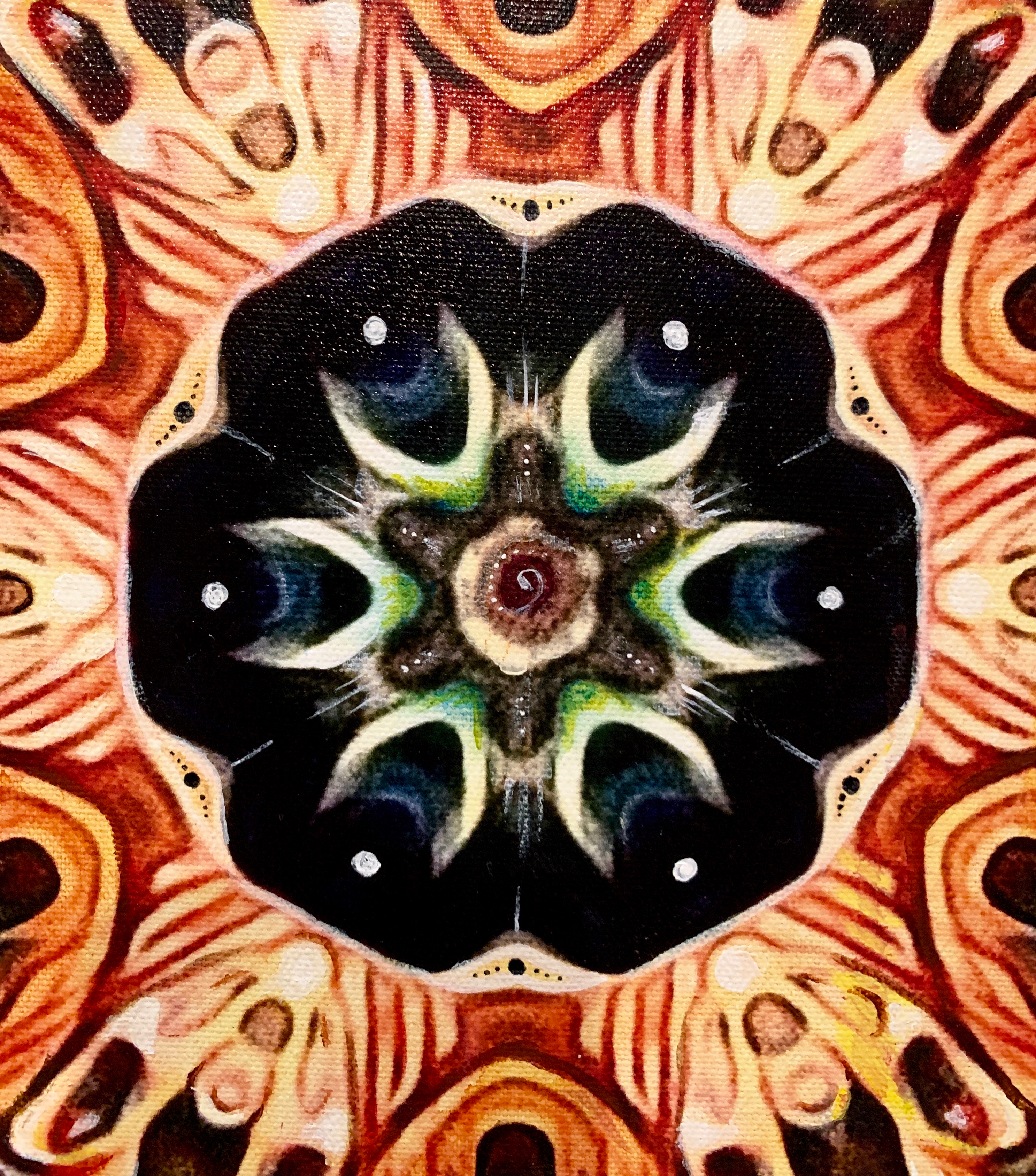 """Medicine Mandala"" medallion detail"