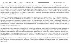 You Are the Line Segment Devi descriptio