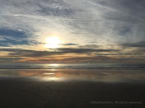 Beautiful New England beach at dawn