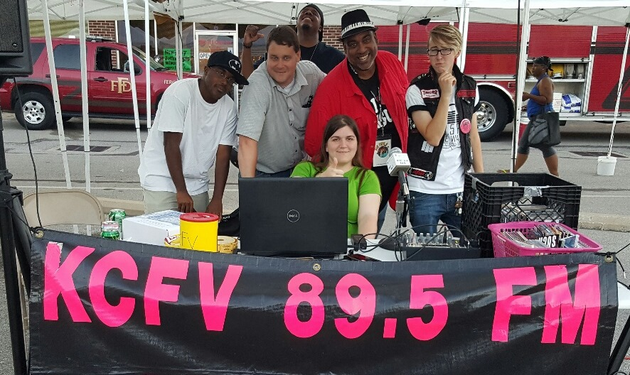 Hanging with the staff of KCFV 89.5