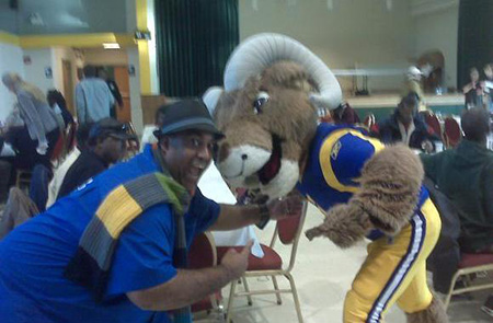 Rampage, St. Louis Rams Mascot