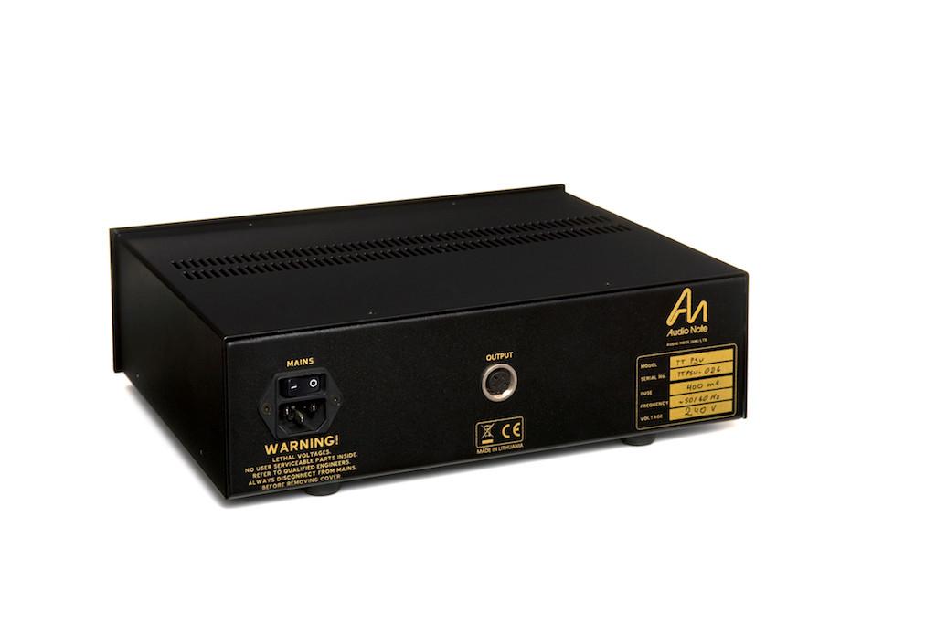 Deluxe TT-PSU, Black Acrylic fascia, gold trim, rear view.