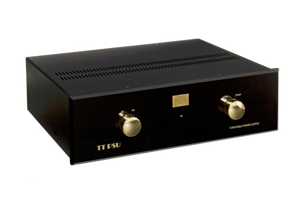 Deluxe TT-PSU, Black Acrylic fascia, gold trim.
