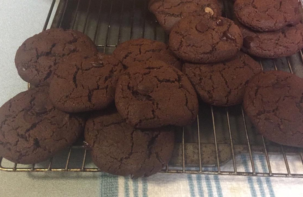 Double Chocolate Chip Ginger Cookies