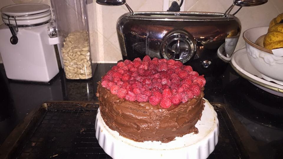 Double-Decker Chocolate Cake With Blackout Frosting And Berries