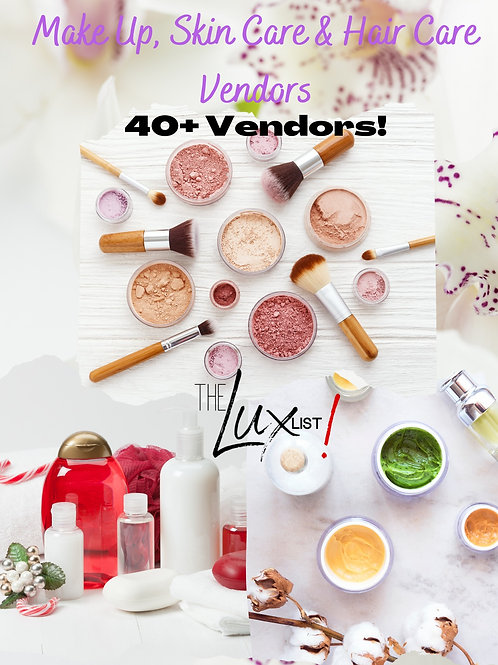 Makeup, Skin & Hair Care Vendors