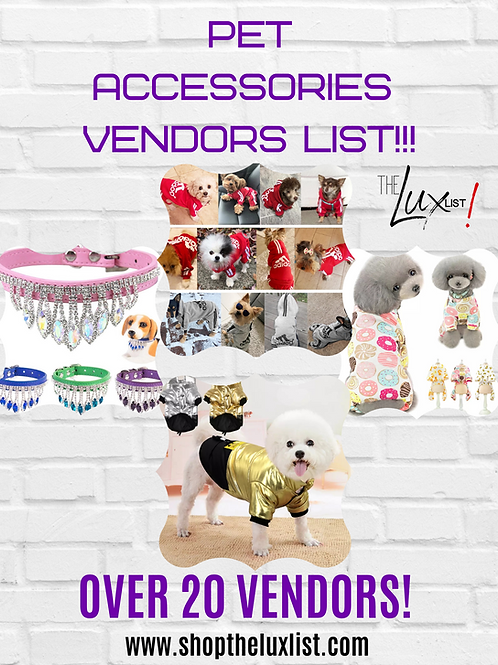 Pet Accessories Vendors