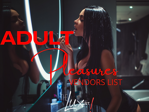 Adult Pleasures Vendors