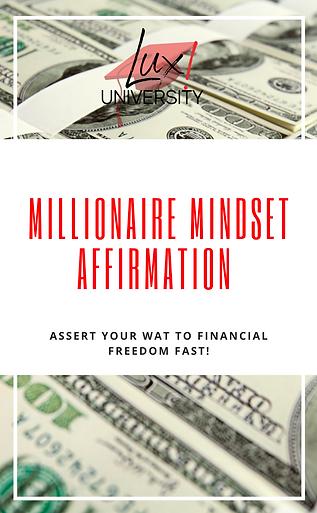 Millionaire Mindset Affirmation