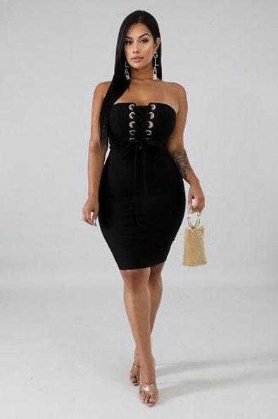 Adelina Black Dress