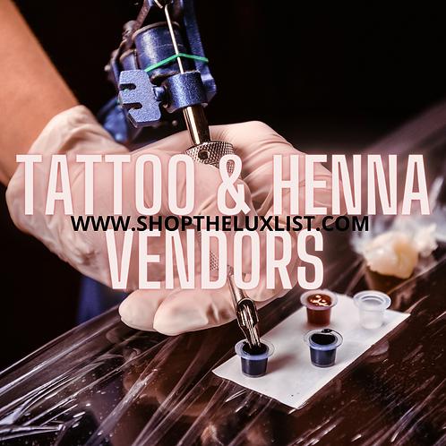 Tatoo/ Henna Vendors