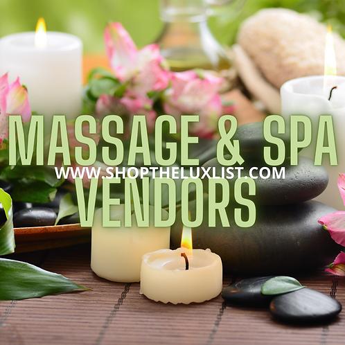 Massage Therapy Vendors