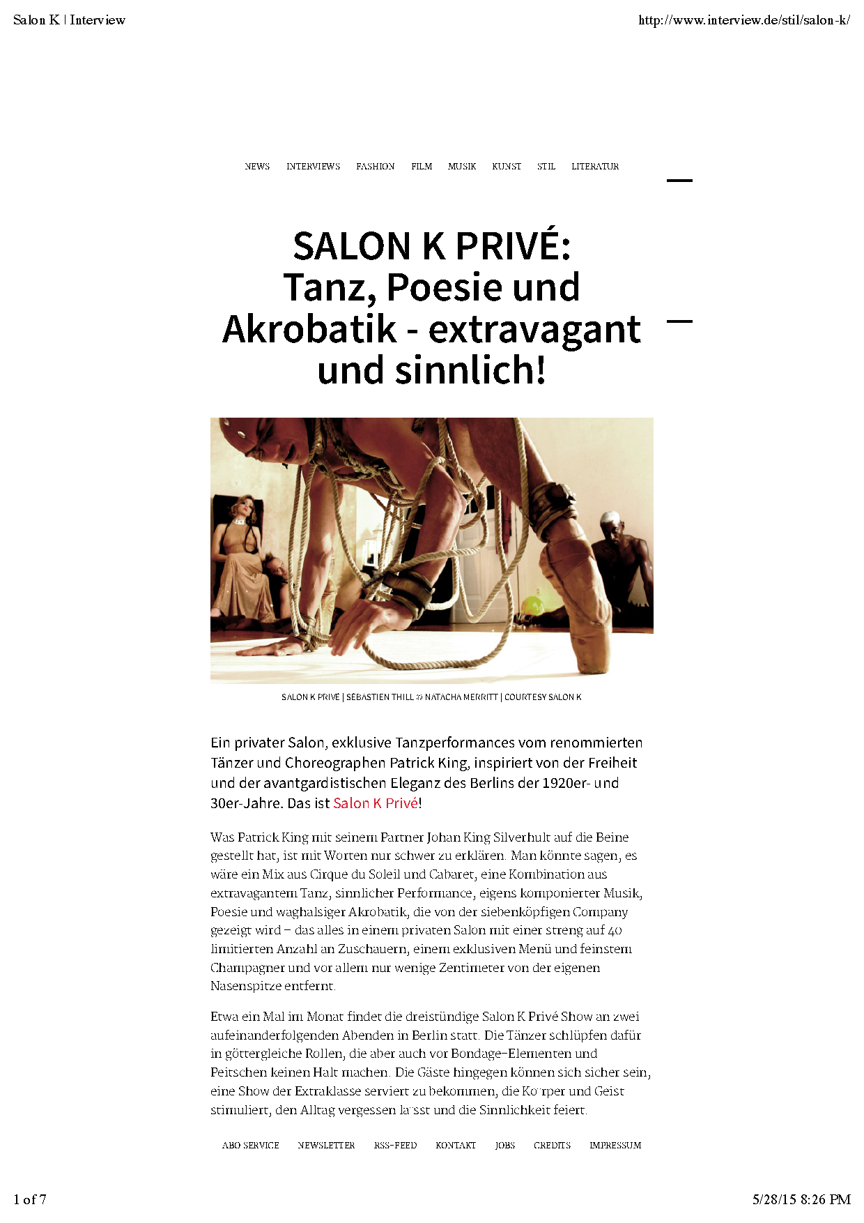 Interview - Privé