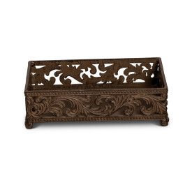 "9""L Acanthus Guest Towel Holder"