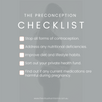Your Preconception Checklist: