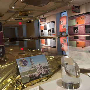 Apollo West Gallery with the real Moon rock case