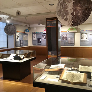 Apollo East Gallery Mapping Moon panels and cases