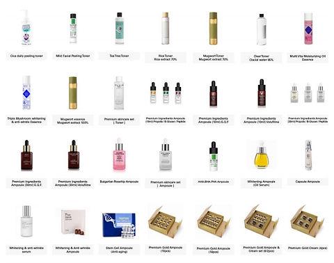 korean cosmetics by private label servic