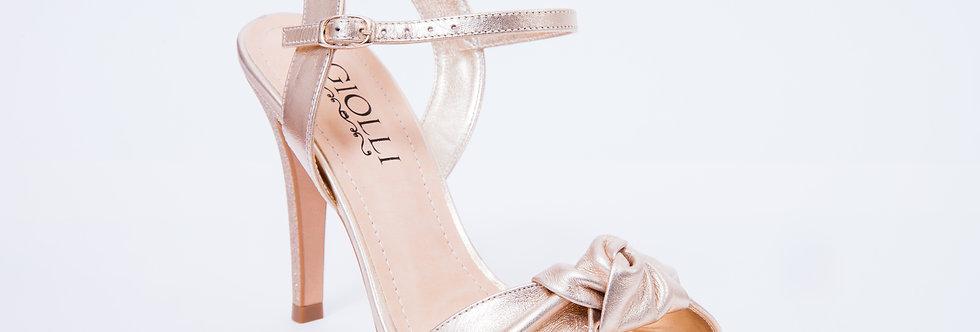 Sandália Bia Alta Dourada
