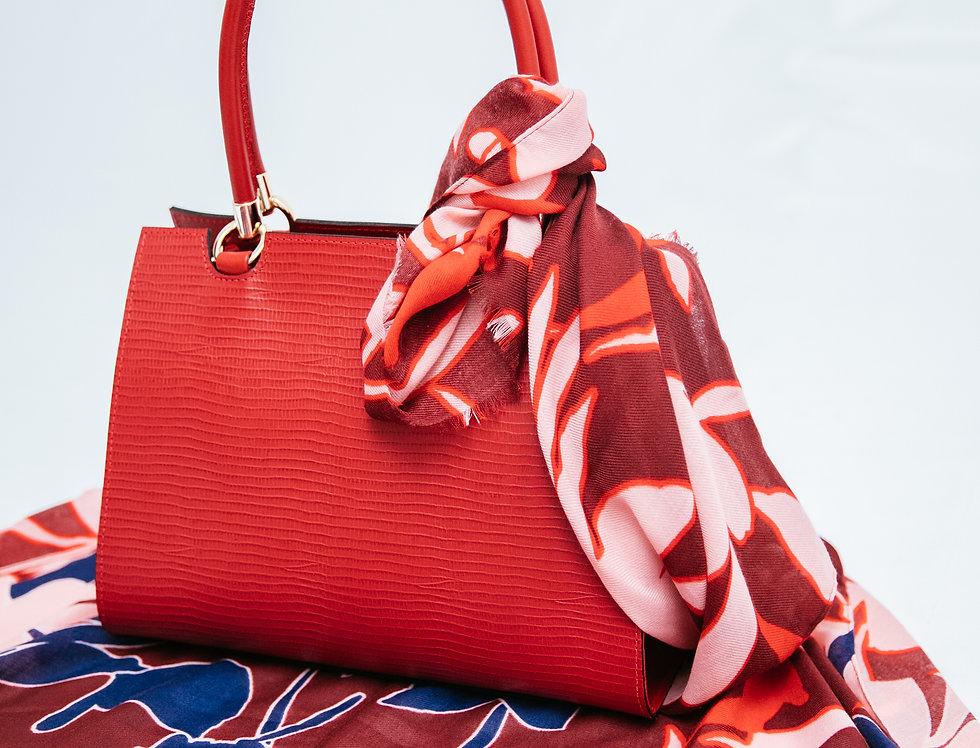 Bolsa Textura Media Vermelha
