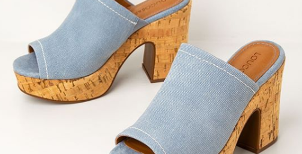 Tamanco Plataforma Est. Jeans